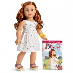 American Girl Doll Blaire's Doll With Pierced Ears + Book