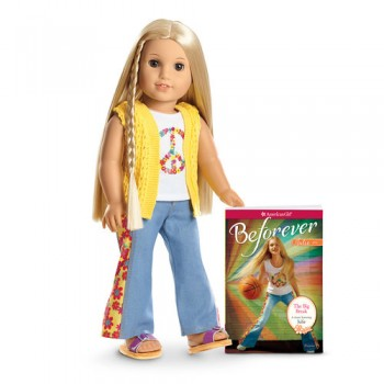 Beforever Julie Doll and Book - American Girl Julie
