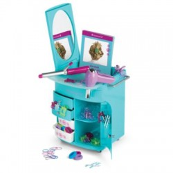 American Girl True Blue Hairstyling Caddy